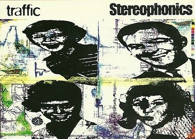 Original 1998 11cm x 15cm Promotional Postcard   STEREOPHONICS   Traffic    MINT