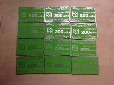 BT Phonecards 200 Units X 12 Used.