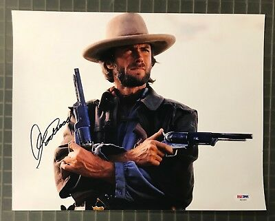 Clint Eastwood Signed 11x14 The Good The Bad & The Ugly Photo AUTO PSA/DNA LOA