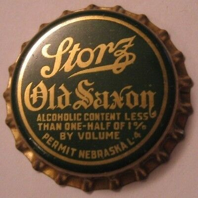 Storz Bev. & Ice Co., Prohibition Beer Bottle Cap; 1920-33 Omaha, Ne Unused Cork