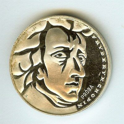 Poland 1972 Silver 50 Zlotych -Chopin Proba Pattern- Perfect Proof Dcam Pr#202