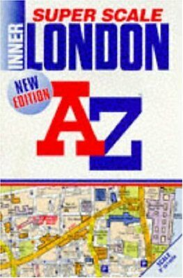 """A. to Z. Super Scale Atlas of Inner London: 1m-9"""". (London Street Atlases),ACCEP"""