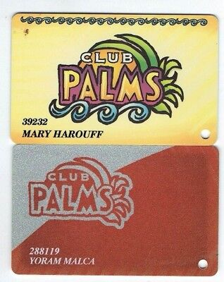 LOT of 2 PALMS Las Vegas CASINO Slot Card / Players Club - Possibly 1st Style