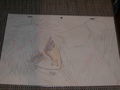 X 1999 Production Anime Pan Cel Sketch - Kamui CLAMP