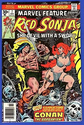 Marvel Feature Red Sonja #7 Vf+ High Grade Bronze Age Marvel Comics