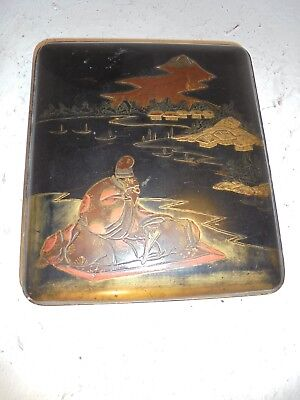 Vintage Japanese Lacquered  Box   ref  4463