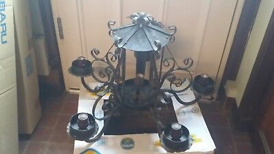 Spanish Revival Classic  Iron hanging Chandelier 5 Light fixture