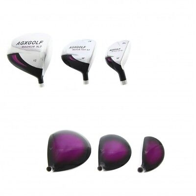 Heads Only! Agxgolf Ladies Right Hand Magnum Xlt 460 Driver, 3Wood, 3Hybrid