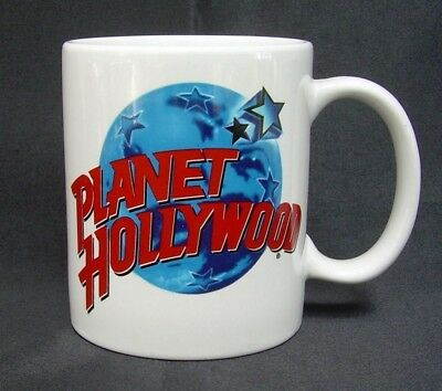 Planet Hollywood Coffee Mug Cup White Pottery Tea Chocolate Vintage