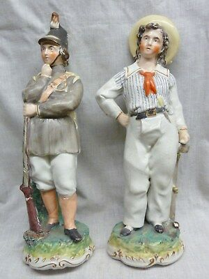 fantastic pair of staffordshire figures 1850s soldier+sailor very well painted
