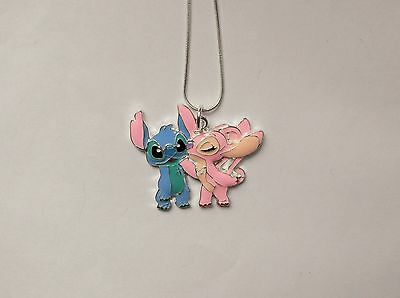 STITCH & ANGEL Unwanted Large Charm NECKLACE Lovely Gift