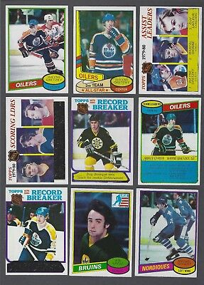 1980-81 Topps Hockey Cards Complete Set of 264 Including the Wrapper
