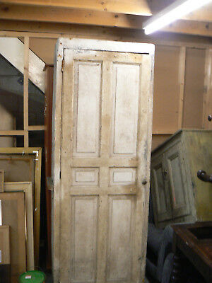 Antique Painted Pine Cupboard Chabby Chic