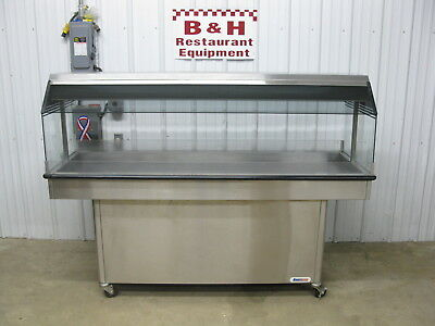 "Amfab Ameridiser 6' Chicken Hot Food Merchandiser 76"" Heated Display Case Warmer"