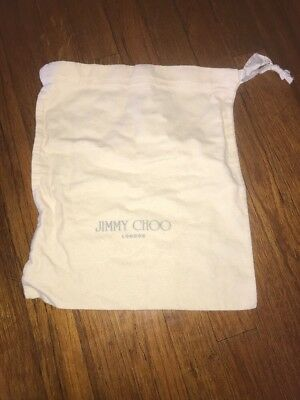Authentic JIMMY CHOO Drawstring Flannel Dust Travel Storage Bag