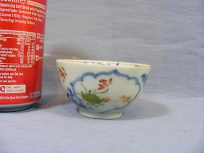 LATE 18c ORIENTAL CHINESE TEA BOWL FORAL FAMILE VERT PATTERN ..