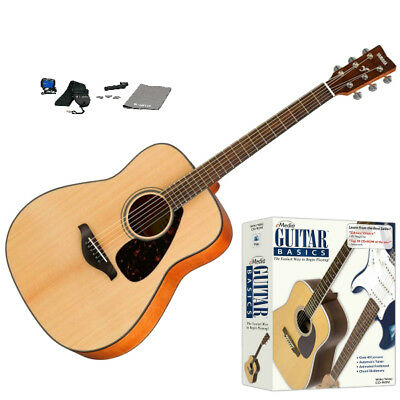 Yamaha FG800 Acoustic Guitar (Natural) Beginner Bundle W/ Lessons & More *New*
