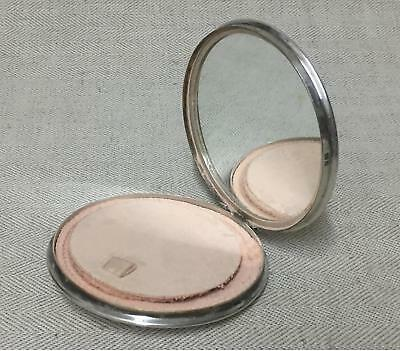 1940s Silver Ladies Compact Mirror by R & D - Silver marks for London 1947