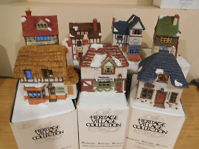Dept 56 Dickens Village - The Original 7 Shops Of Dickens Village