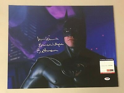 "Val Kilmer "" Bruce Wayne "" Signed 16x20 BATMAN Photo Autograph AUTO PSA/DNA COA"