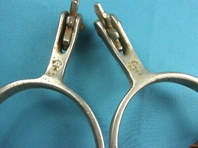 Old Pair North & Judd~Anchor Marked~Matched Spurs w/ Leather Straps~8 Pt Rowels