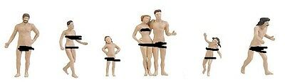 """N scale Faller SIX Nude """" Evening by the Lakeside """" Bathers FIGURES # 155349"""