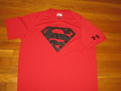 Under Armour Dc Comics Superman Short Sleeve Loose Jersey Mens Large Excellent