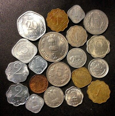 OLD India Coin Lot - 1932-Present - 20 Great Coins - Lot #FB15