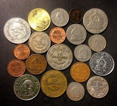 Old Honduras Coin Lot - 1939-Present - 20 Great Coins - Lot #Fb15