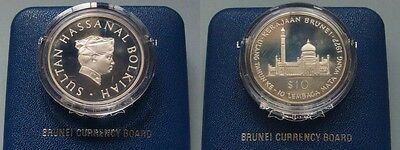 Brunei. 1977 Ten Dollars..   Silver - Cased..  PROOF