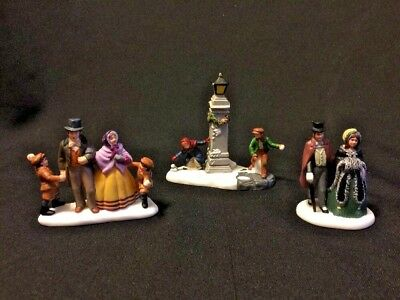 3 DEPARTMENT 56 Christmas Dickens Village PEOPLE BOYS Family COUPLE