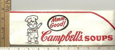 Campbell soup 1974  Employee paper hat handeled but unabused see scan