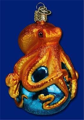 Octopus Old World Christmas Nautical Sea Ocean Theme Glass Ornament Nwt 12129