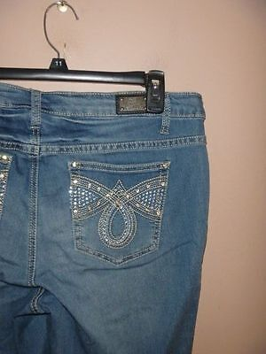 Nwt Earl Jean Skinny Jeans Size 16 W... Bling!!!  Super Stretchy!! Wow!!