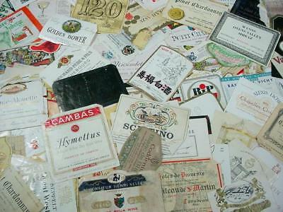 NobleSpirit NO RESERVE {3970}Collection of 200+ Vintage WW Wine & Alcohol Labels
