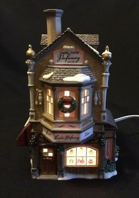 CHRISTMAS Dept 56 Dickens Village Charles Darby Perfumery Light Up House 2006