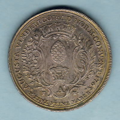 Germany - Augsburg.. 1765-IT FAH, Thaler.. Flowered edge..  aEF - Trace Lustre