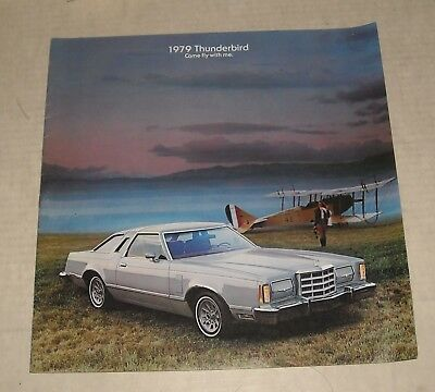 1979 Ford Thunderbird Advertising Auto Sales Dealership Color Brochure Booklet