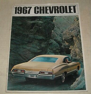 1967 Chevy Full Line Advertising Auto Sales Dealership Color Brochure Booklet