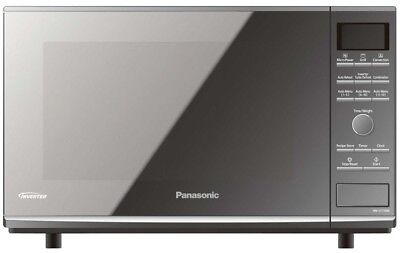 Panasonic NN-CF770M 27L Convection Flatbed Microwave Oven, Metallic Silver