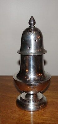 Beautiful Vintage Tall Solid Sterling Silver Muffineer - Sugar Shaker Fine Lines