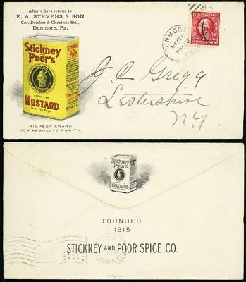 Great Multicolor Stickney & Poor's Mustard 1912 Advertising Cover - Stuart Katz