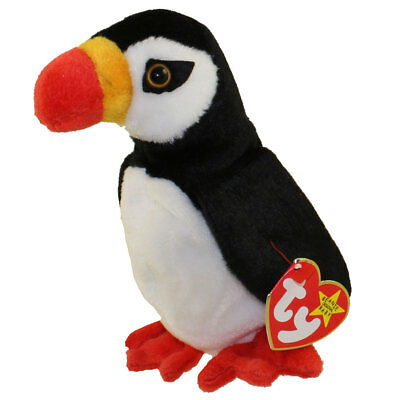 TY Beanie Baby - PUFFER the Puffin (6 inch) - MWMTs Stuffed Animal Toy
