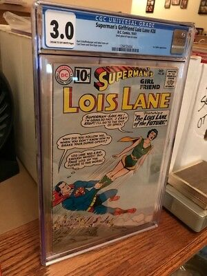 No Reserve Sale: Dc Comics! Lois Lane Cgc Prof. Graded No. 28 1961 (3.0)