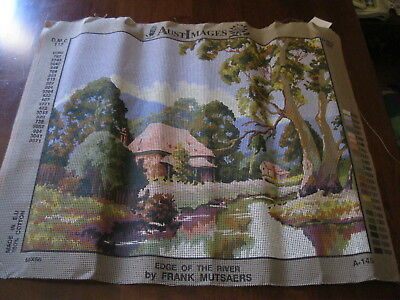 """Aust Images """"Edge of the River """":A-145 :Canvas ONLY:New/ Not Started:"""