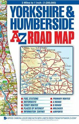 Yorkshire & Humberside Road Map (Street Atlas) by Geographers A-Z Map Co. Ltd. (