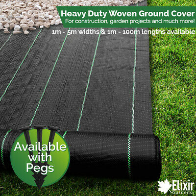 Elixir Gardens® Premium Woven Ground Cover | Landscape Fabric | Weed Membrane