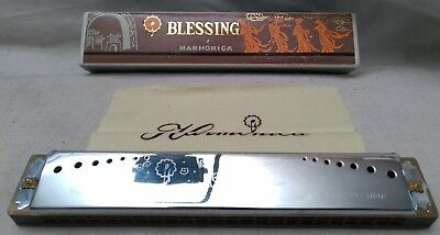 BLESSING Ancien HARMONICA Instrument Musical Vintage Mouth Organ Blessing Rare A