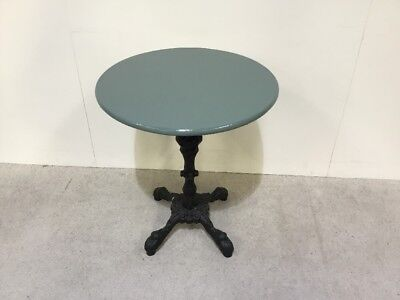Cast Iron Base Pub Table Garden Table Round Solid Top Heavy Cast Iron