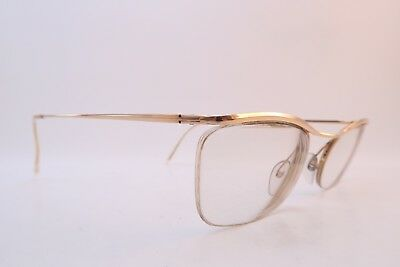 Vintage 50s gold filled eyeglasses frames NYLOR Doublé Or Laminé Supra France
